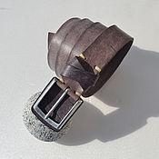 Ремни ручной работы. Ярмарка Мастеров - ручная работа Кожаный ремень летний из тонкой кожи. Handmade.