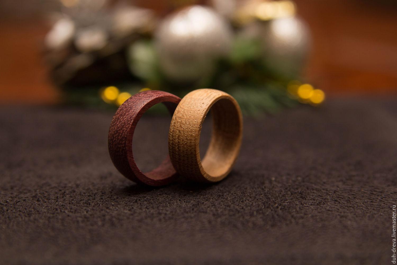 Wedding rings made of wood