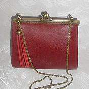 Сумки и аксессуары handmade. Livemaster - original item Leather goods.Leather bag in BURGUNDY. Handmade.