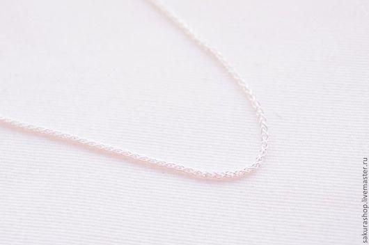 Для украшений ручной работы. Ярмарка Мастеров - ручная работа. Купить Цепочка из серебра плетение пшеничный колосок 45 см. Handmade.