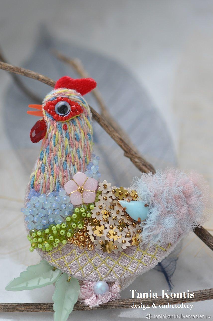 Brooch ' Watercolor Chicken', Brooches, Tver,  Фото №1