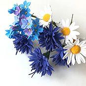 Украшения handmade. Livemaster - original item Studs with wildflowers. Handmade.