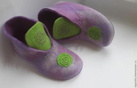 """Обувь ручной работы. Ярмарка Мастеров - ручная работа. Купить Тапочки"""" Солнце"""". Handmade. Тапочки домашние, подарок на новый год, разноцветный"""