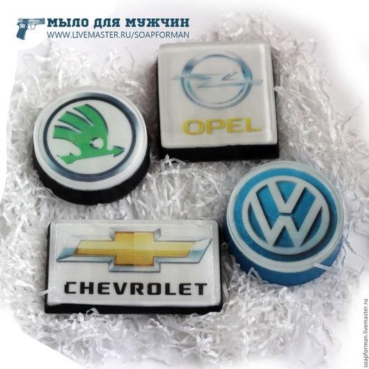 """Мыло ручной работы. Ярмарка Мастеров - ручная работа. Купить Мыло """"Логотип авто"""". Handmade. Черный, подарок на новый год"""