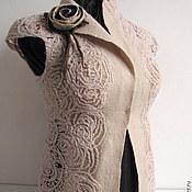 """Одежда ручной работы. Ярмарка Мастеров - ручная работа валяный жилет """"Розовый плен"""". Handmade."""