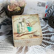"""Для дома и интерьера ручной работы. Ярмарка Мастеров - ручная работа Шкатулка """"Ледяная лилия"""". Handmade."""