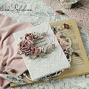 Cards handmade. Livemaster - original item Handmade postcard white pink. Handmade.