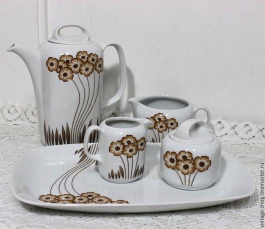 """Винтажная посуда. Ярмарка Мастеров - ручная работа. Купить Комплект фарфоровой посуды """"Eschenbach"""" Bavaria 1960-70-е г.г.. Handmade."""