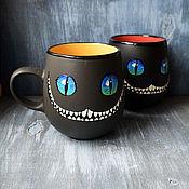 """Посуда handmade. Livemaster - original item Чашка """"Улыбка Чеширского кота"""" (0832). Handmade."""
