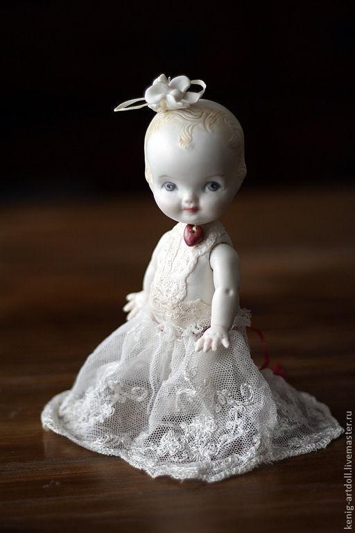 Коллекционные куклы ручной работы. Ярмарка Мастеров - ручная работа. Купить Love-child. кукла в стиле антикварочки. Handmade. Белый