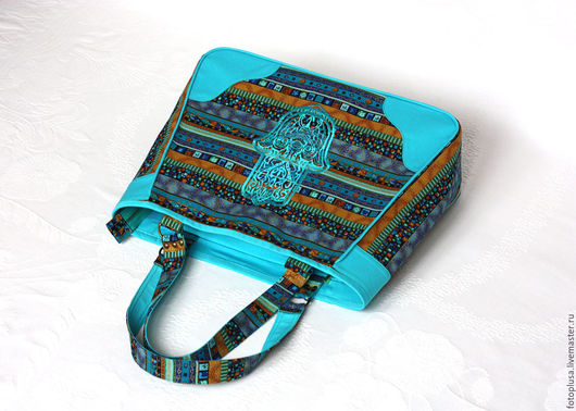 Женские сумки ручной работы. Ярмарка Мастеров - ручная работа. Купить Сумка текстильная с вышивкой Восточная Бирюза. Handmade. Комбинированный