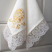 Подарки к праздникам handmade. Livemaster - original item Easter napkin with embroidery