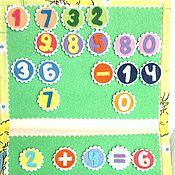 """Куклы и игрушки ручной работы. Ярмарка Мастеров - ручная работа развивающая книжка """"веселый счет"""". Handmade."""