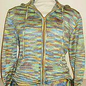 """Одежда ручной работы. Ярмарка Мастеров - ручная работа Вязаная кофта с капюшоном """"Разноцвет"""". Handmade."""