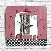 Для дома и интерьера handmade. Livemaster - original item Kids wall clock cat - stand clock handmade. Handmade.
