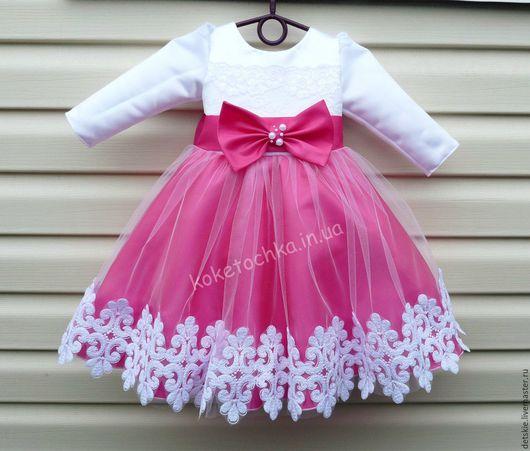 Одежда для девочек, ручной работы. Ярмарка Мастеров - ручная работа. Купить нарядное платье с розами. Handmade. Комбинированный, фатин, тафта