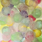 Картины и панно handmade. Livemaster - original item Watercolor painting with multicolored balls