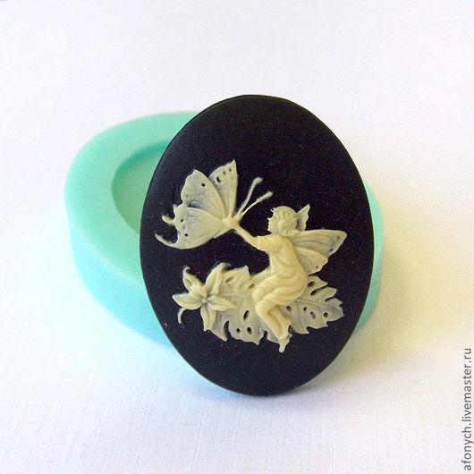 """Для украшений ручной работы. Ярмарка Мастеров - ручная работа. Купить Форма, молд камеи """"Фей с бабочкой"""" (арт.: 219). Handmade."""