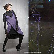 Одежда handmade. Livemaster - original item GA_026 Tunic Night the London Eye, the color purple-black. Handmade.