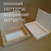 Материалы для творчества ручной работы. Ярмарка Мастеров - ручная работа коробка с откидной крышкой из картона. Handmade.