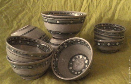 Пиалы ручной работы. Ярмарка Мастеров - ручная работа. Купить Пиалы в наборе 9 штук. Handmade. Пиалы, посуда