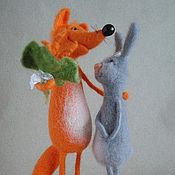 """Куклы и игрушки ручной работы. Ярмарка Мастеров - ручная работа Авторская композиция  """"Любовь-морковь"""". Handmade."""