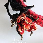 """Украшения ручной работы. Ярмарка Мастеров - ручная работа Цветы из кожи. Ободок из натуральной кожи """"Счастье"""". Handmade."""