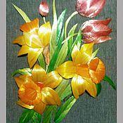 """Картины и панно ручной работы. Ярмарка Мастеров - ручная работа Экопанно """"Весенний букет"""". Handmade."""