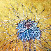 Картины и панно ручной работы. Ярмарка Мастеров - ручная работа Цветок черного тмина. Handmade.