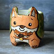 Посуда handmade. Livemaster - original item Squirrel cup with legs - Forest friends series. Handmade.