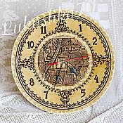 Для дома и интерьера handmade. Livemaster - original item Large wall clock made of birch bark