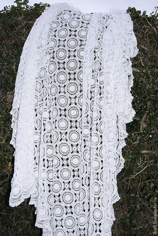 Текстиль, ковры ручной работы. Ярмарка Мастеров - ручная работа. Купить Покрывало, нежное из  480 роз из  белого облака!. Handmade.