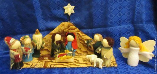 Кукольный театр ручной работы. Ярмарка Мастеров - ручная работа. Купить набор  Рождество. Handmade. Игрушки для детей, кукольный театр