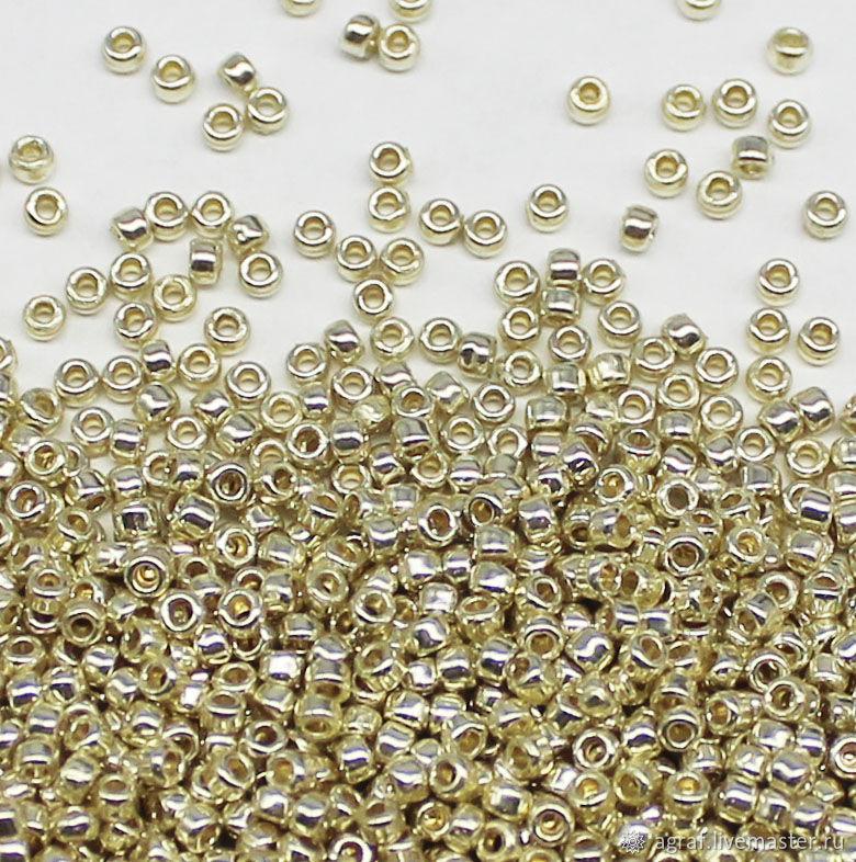 Круглый 15/0 TOHO PF558 Galvanized Aluminum японский бисер, Бисер, Соликамск,  Фото №1