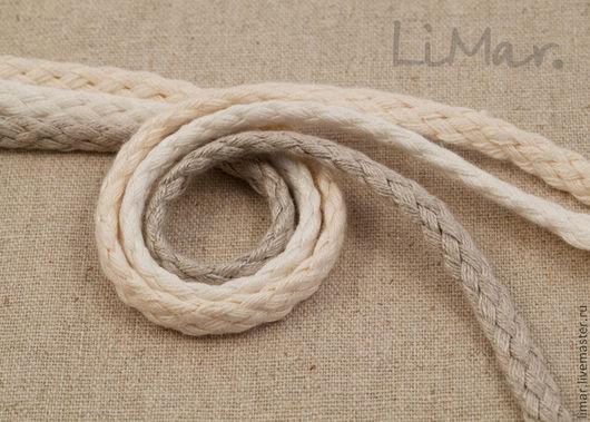 Шитье ручной работы. Ярмарка Мастеров - ручная работа. Купить Льняной плетеный шнур, 3 цвета. Handmade. Шнур