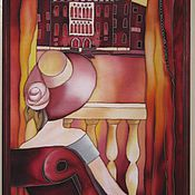 """Картины и панно ручной работы. Ярмарка Мастеров - ручная работа Панно """"У открытого балкона"""". Handmade."""
