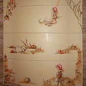 Для дома и интерьера handmade. Livemaster - original item crib and dresser for baby girl, painting, custom ordering. Handmade.