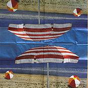 Материалы для творчества handmade. Livemaster - original item Napkin decoupage summer beach. Handmade.