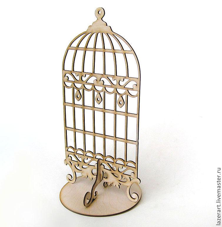 """Статуэтки ручной работы. Ярмарка Мастеров - ручная работа. Купить Подставка для бижутерии """"Клетка"""". Handmade. Бежевый, клетка для птиц"""