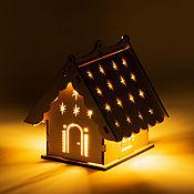 Сувениры и подарки handmade. Livemaster - original item The house is a New Year`s lamp (