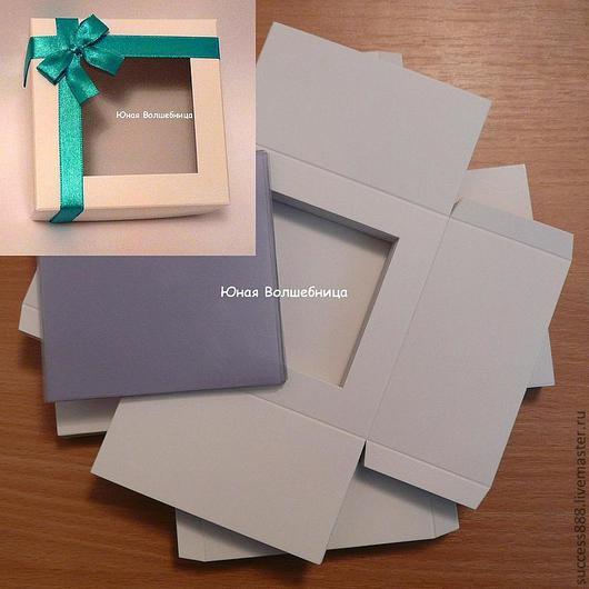Оригинальная упаковка из белого картона, упаковка для украшений, упаковка для косметики, упаковка для мыла, упаковка для пряников, коробочки с окошком