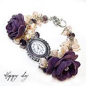 Украшения handmade. Livemaster - original item Watch wrist women`s. Women`s watch with pearls. Bracelet watch. Handmade.
