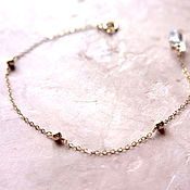Украшения handmade. Livemaster - original item Chain bracelet with beads of gold Goldfield. Handmade.