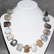 Украшения handmade. Livemaster - original item Large necklace made of natural moss agate. Handmade.
