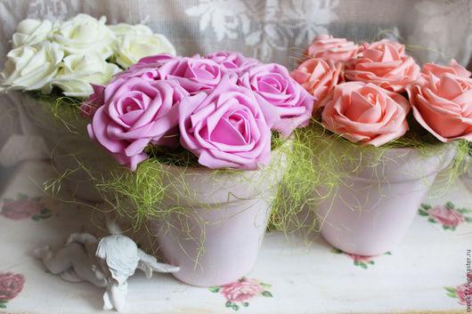 Интерьерные композиции ручной работы. Ярмарка Мастеров - ручная работа. Купить Интерьерная композиция с розами.. Handmade. Интерьер, цветы