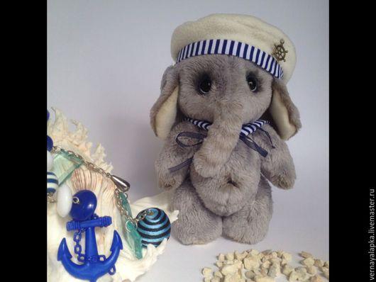 Мишки Тедди ручной работы. Ярмарка Мастеров - ручная работа. Купить Слон Лёня. Handmade. Серый, тедди слоник, ткань