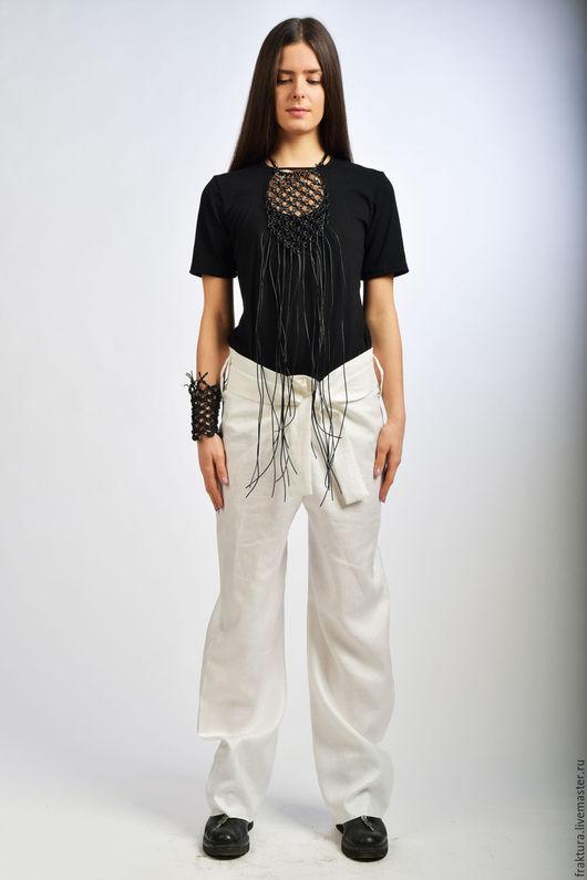 """Брюки, шорты ручной работы. Ярмарка Мастеров - ручная работа. Купить Льняные брюки """"Linen Pants"""" / P0022. Handmade."""