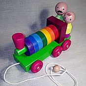 Куклы и игрушки handmade. Livemaster - original item Train-pyramid. Handmade.