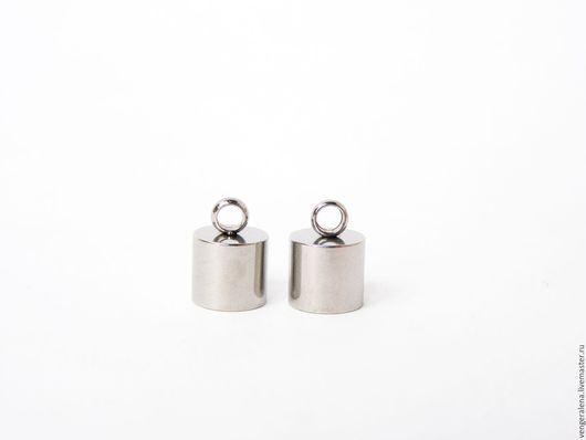 Для украшений ручной работы. Ярмарка Мастеров - ручная работа. Купить Колпачки М3  для жгутов, концевики 8 мм нержавеющая сталь. Handmade.
