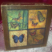 Для дома и интерьера handmade. Livemaster - original item box butterfly. Handmade.